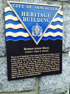 Heritage plaques provided to houses that are designated by the city Photo by Kristen Harpula